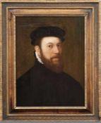 Bildnis eines wohlhabenden Herren Flämischer Meister des 16. Jahrhunderts Öl/Holz, parkettiert. 61 x