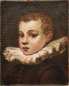 Tintoretto, Domenico Bildnis eines Knaben mit Halskrause (Venedig 1560-1635 ebd.) Öl/Lwd., doubl. 38