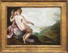 Holländischer Manierist des 16. Jahrhunderts Die zurückgelassene Ariadne auf Naxos Öl/Eichenholz.
