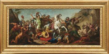 Die Schlacht Alexanders des Großen gegen König Darius Römische Schule des 17. Jahrhunderts Öl/
