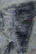 """Gustav Deppe """"Silberturm"""". 1958. Öl auf Leinwand, auf Hartfaser aufgezogen. Monogrammiert """"GD"""" und"""