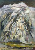 """Bernhard Franke """"Totes Gebirge"""". 1980. Öl auf Sperrholz. Signiert """"Fra."""" und datiert u.li. Verso mit"""