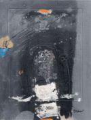 """James Coignard """"Homme en blanc"""" [Mann in Weiß]. 1974. Mischtechnik auf """"Arches France""""-Bütten. U.re."""