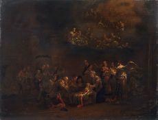 Pieter Pietersz. III Vromans (zugeschr.), Die Heilige Nacht. 2. Viertel 17. Jh. Öl auf Holz.
