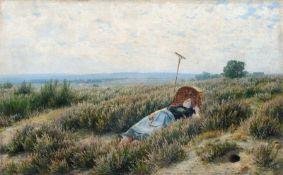 """Emil Zschimmer """"Heide-Frieden"""". 1896. Öl auf Leinwand. Ligiert signiert """"EZschimmer"""" und datiert u."""