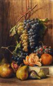 """Giuseppe Falchetti, Stillleben mit Früchten. Ende 19. Jh. Öl auf Leinwand. Signiert """"G. Falchetti"""""""