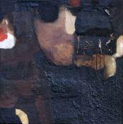 Dietrich Gnüchtel, Ohne Titel. 1993. Öl, Acryl, Papier, Sand und Kunstharz auf textilem