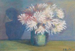 Karen Aghamian, Stillleben mit Blumenstrauß. 1993. Öl auf Leinwand. Kyrillisch signiert u.re.