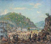 Richard Paul Burkhardt-Untermhaus, Steinbruch am Schreckenstein bei Aussig. Um 1950. Öl auf