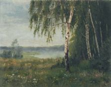 "Otto Förster, Morgenstimmung am See. Anfang 20. Jh. Öl auf Leinwand. Signiert ""O. Förster"" u.li."