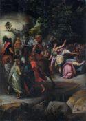 """Cornelis de Baellieur d.Ä. """"Christus auf dem Weg nach Golgatha"""". 1628. Öl auf Holz. Signiert mit"""