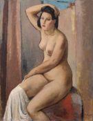 """Johannes Beutner """"Susanna im Bade"""". 1947. Öl auf Leinwand. Signiert """"Joh. Beutner"""" und datiert u.re."""