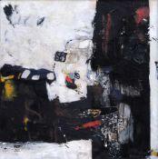 Dietrich Gnüchtel, Ohne Titel. 1999. Öl, Acryl, Papier, Sand und Kunstharz auf Baumwolle.