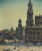 """Rudolf Bernhard Adam """"Schlossplatz"""" (Dresden). Anfang 20. Jh. Öl auf Leinwand. Signiert """""""
