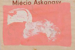 Hermann Glöckner, Weiß auf rosarotem Grund. 1970er Jahre. Tempera über Bleistift auf einer Seite des