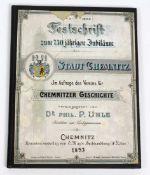 750 Jahre Chemnitz *Festschrift zum 750jährigen Jubiläum der Stadt Chemnitz*. Im Auftrage des