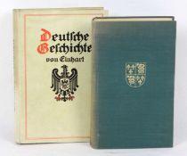 Deutsche Geschichte u.a. von Einhart, mit 16 Vollbildern und einer bunten Karte des deutschen