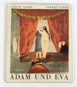 Adam und Eva. Komödie von Peter Hacks, mit Bildern von Albert Ebert. Leipzig, Reclam 1976. 1.