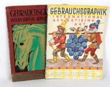 Gebrauchsgraphik 2 Zeitschriften, International Advertising Art, Ausgabe Sept. 1928 u. Okt. 1929,