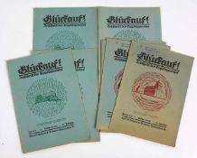 Glückauf. Zeitschrift des Erzgebirgsvereins, 1933 53. Jahrgang, Heft 1 - 12, in 12 Einzelheften.