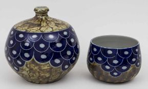 Vase und Cachepot / A vase and a cachepot, Goebel-Merkelbach, 1981 Material: Keramik, glasiert (