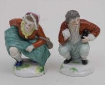 Satirisch-erotische Figur 'pinkelnde Frau' / A satirical-erotical figure of a peeing woman, Carl