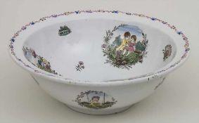 Waschschüssel mit den Lebenszyklen eines Mädchens / A wash bowl depicting the periods of life of a