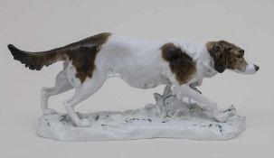 Jagdhund 'Pointer' / A hunting dog 'Pointer', Karl Ens, Volkstedt, 1. Hälfte 20. Jh. Material: