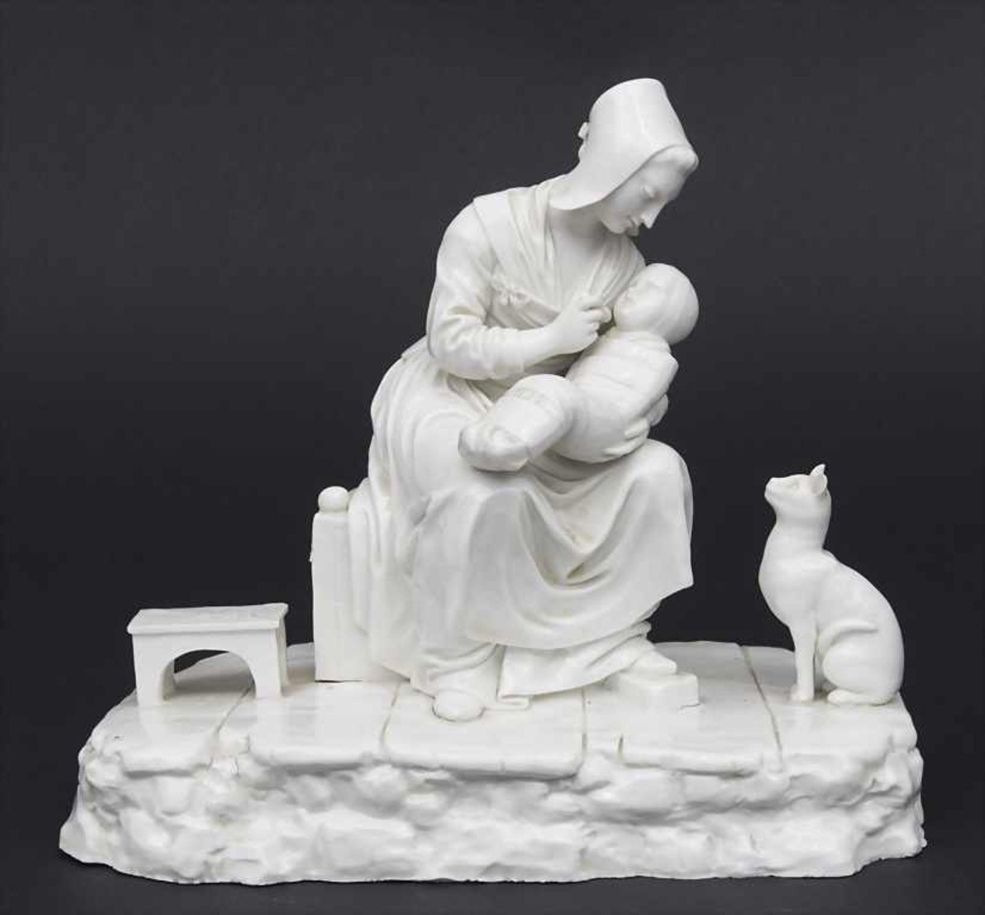 Figurengruppe mit Katze / A figural group with cat, Johann Peter Melchior, Höchst, 1770 Material: