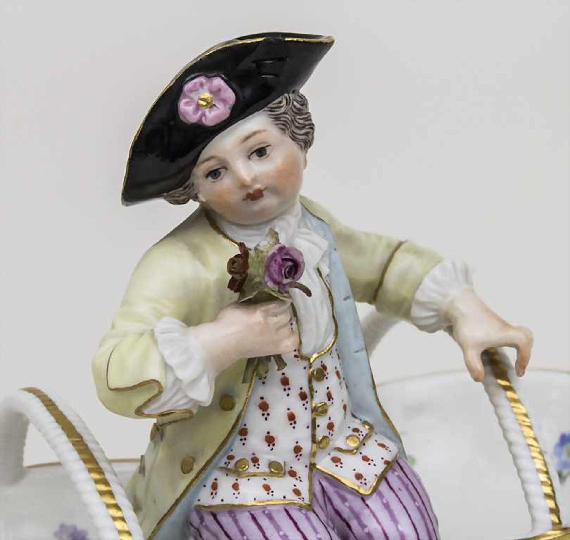 Saliere mit Gärtnerkind 'Knabe mit Blumen' / A pair of salt cellars with a gardener boy', Meissen, - Bild 5 aus 5