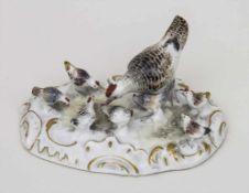 Henne mit 7 Küken / A hen with 7 chicks, Johann Joachim Kaendler, Meissen, um 1750 - 1753