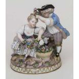 Figurengruppe 'Frühling' / A figural group 'Spring', M.V. Acier, Meissen, um 1860 Aus der Serie '