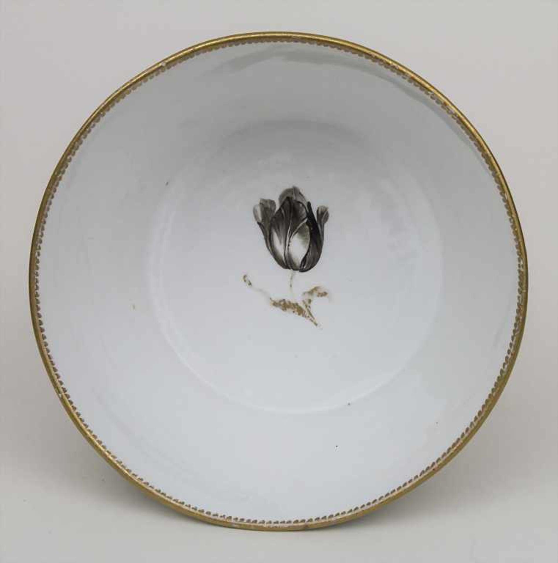 Schale mit Blumenbouquets / A bowl with bouquets of flowers, Meissen, um 1774-1814 Material: - Bild 3 aus 4
