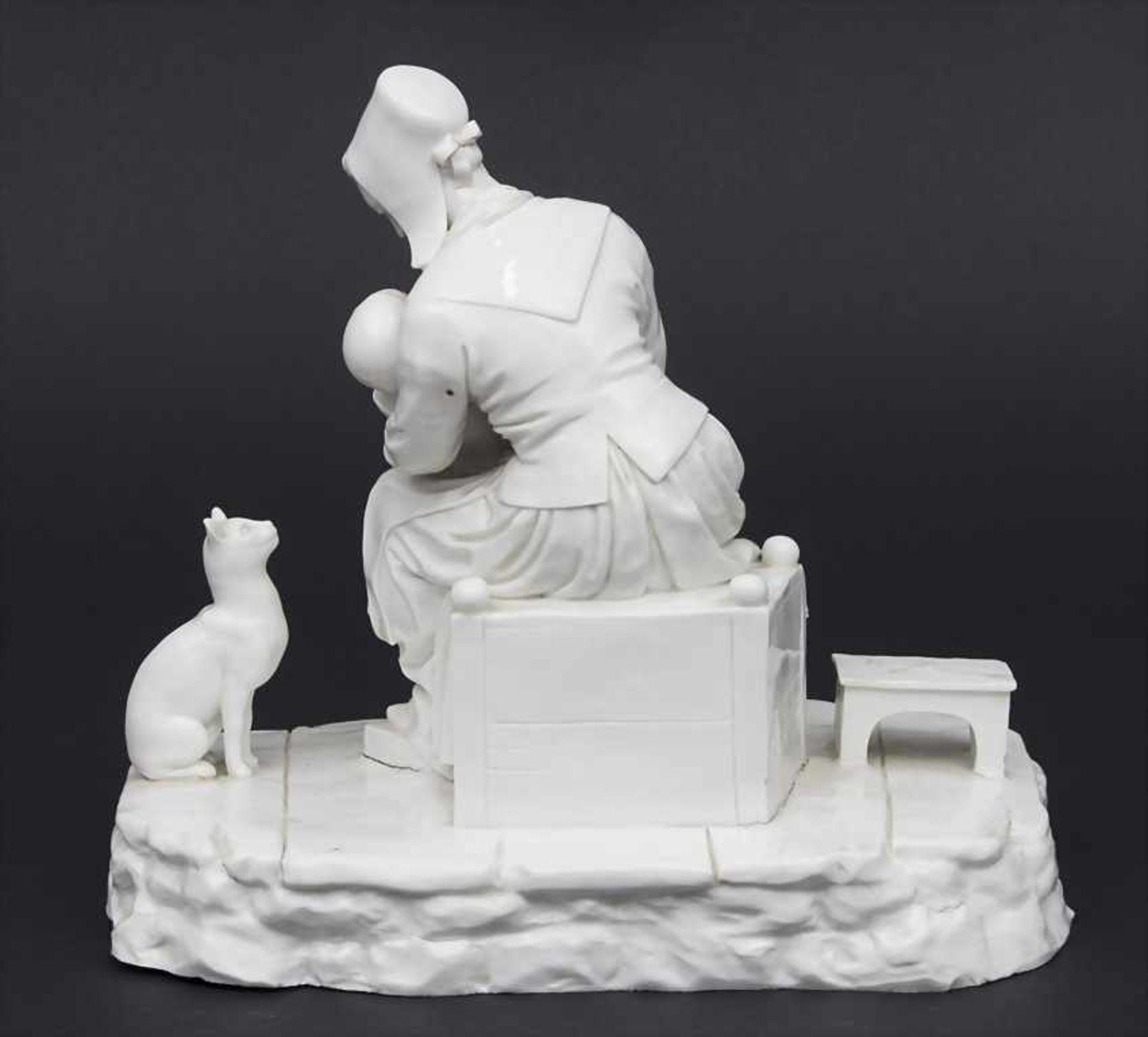 Figurengruppe mit Katze / A figural group with cat, Johann Peter Melchior, Höchst, 1770 Material: - Bild 2 aus 3