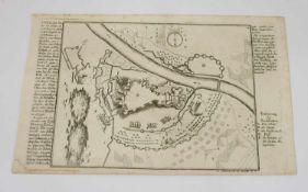 Gabriel Bodenehr Plan der Stadt Budapest um 1730, Kupferstich nach Gabriel Bodenehr, 18 x 28 cm