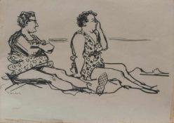 Gerhard Vontra (Altenburg 1920 - 2010 Prerow, deutscher Zeichner u. Karikaturist, Studium an der