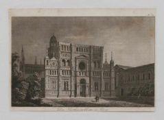 """Stahlstich """"Das Karthäuserkloster in Pavia"""" Stahlstich um 1850, 11,5 x 18,5 cm, unger."""