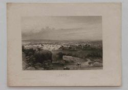 """Stahlstich """"Kano"""" - Sudan-Mittelafrika Stahlstich um 1850, verlegt im Bibliografischen Institut"""