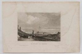 """Stahlstich """"Die Ruinen von Carthago"""" Stahlstich um 1850, verlegt im Bibliografischen Institut"""