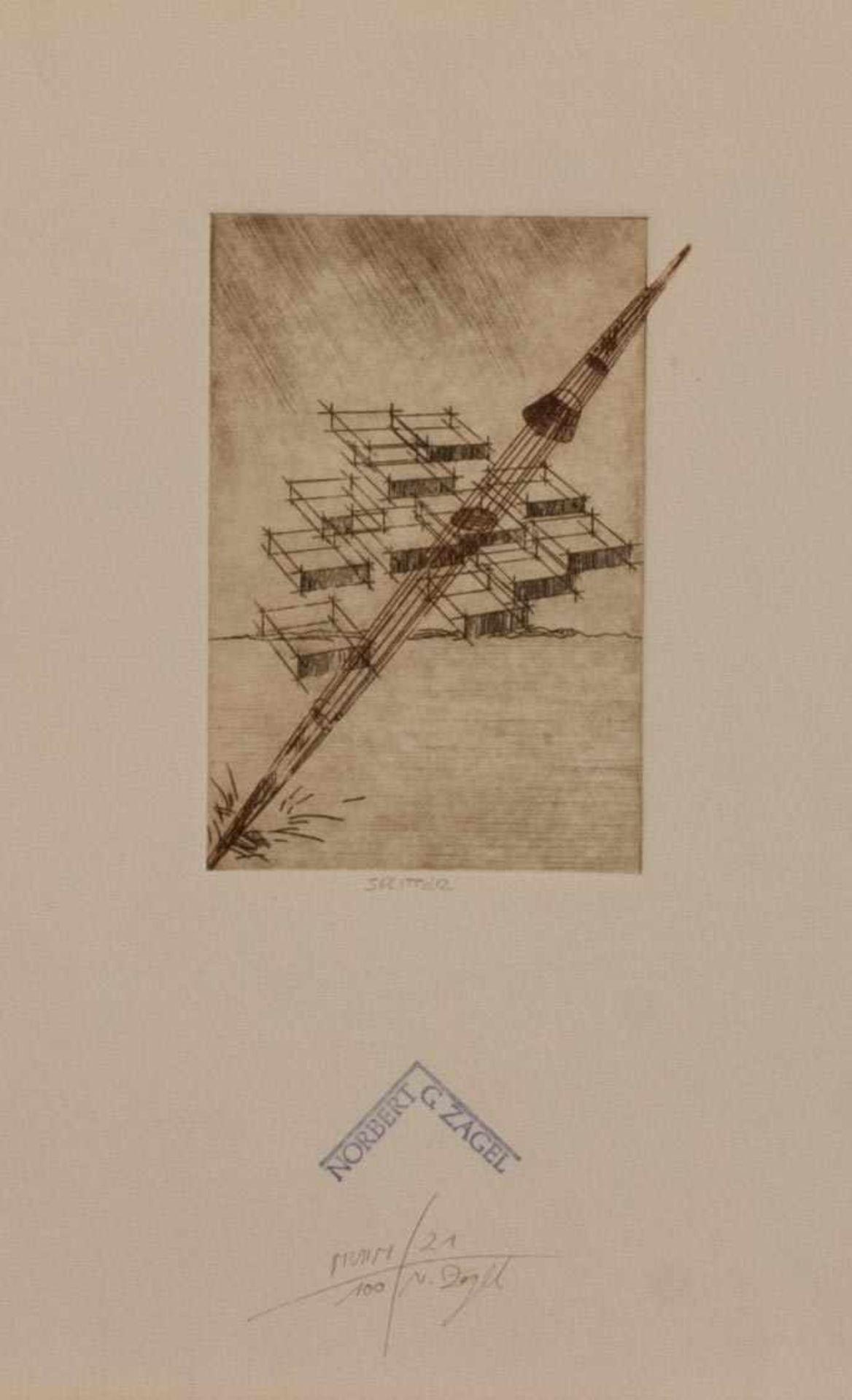 Norbert Georg Zagel (Neuburg/ Donau 1952 -, deutscher Grafiker u. Bildhauer, Std. a.d. FHS Augsburg,