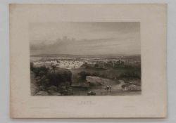 """Stahlstich """"Kano"""" - Sudan-MittelafrikaStahlstich um 1850, verlegt im Bibliografischen Institut"""