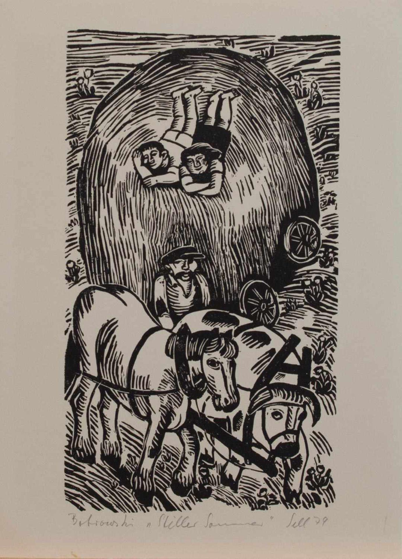 Lothar Sell (Treuenbrietzen 1939 - 2009 Meißen, deutscher Grafiker, Illustrator u. Keramiker, Std.