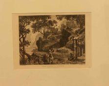 Jos. Hoffmann (Radierer u. Zeichner des 19. Jh.)Devant La Demeure des GibichungenRadierung, 13 x