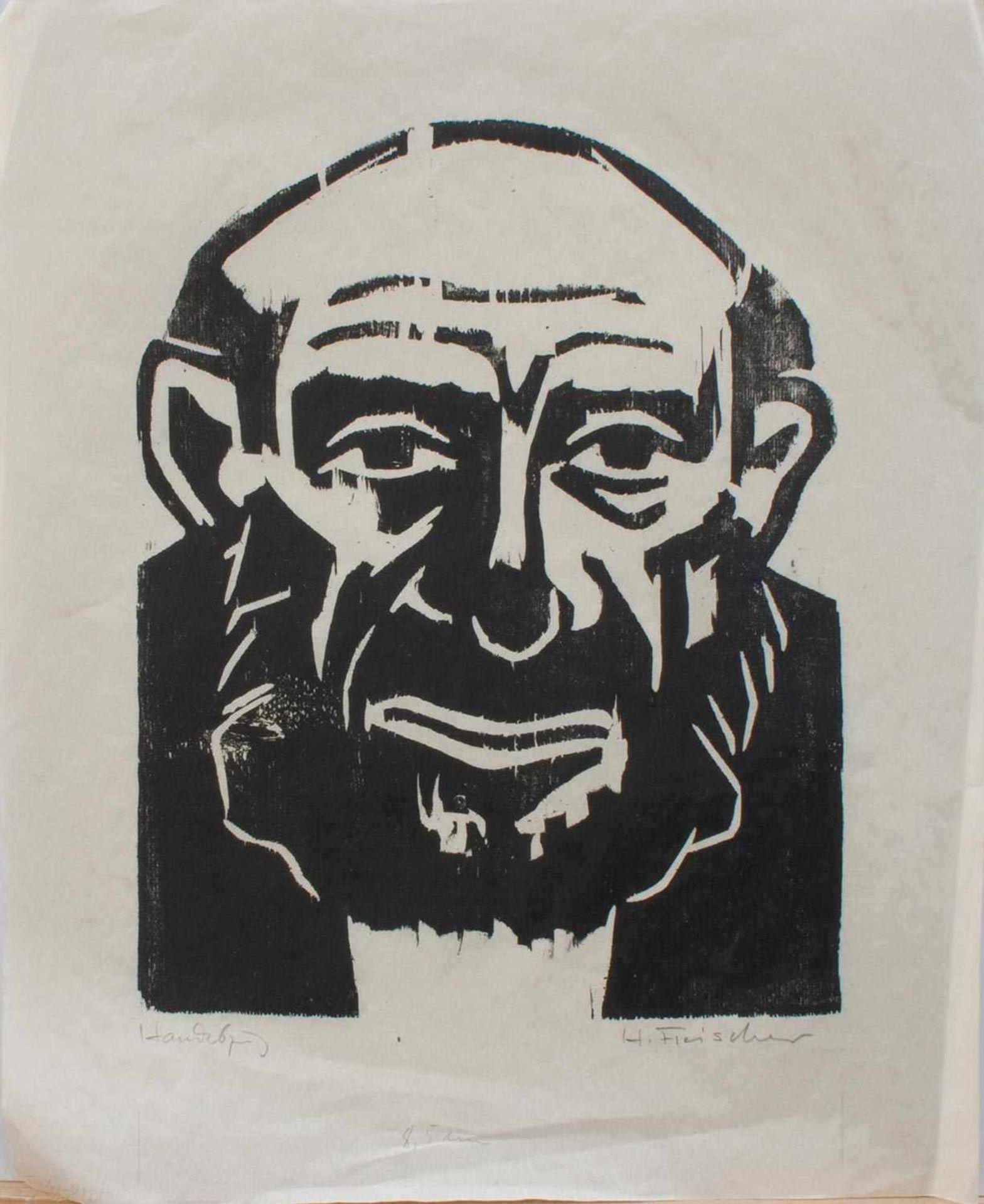 Heinz Fleischer (Zwickau 1920 - 1975 ebenda, deutscher Zeichner und Holzschneider, Autodidakt,