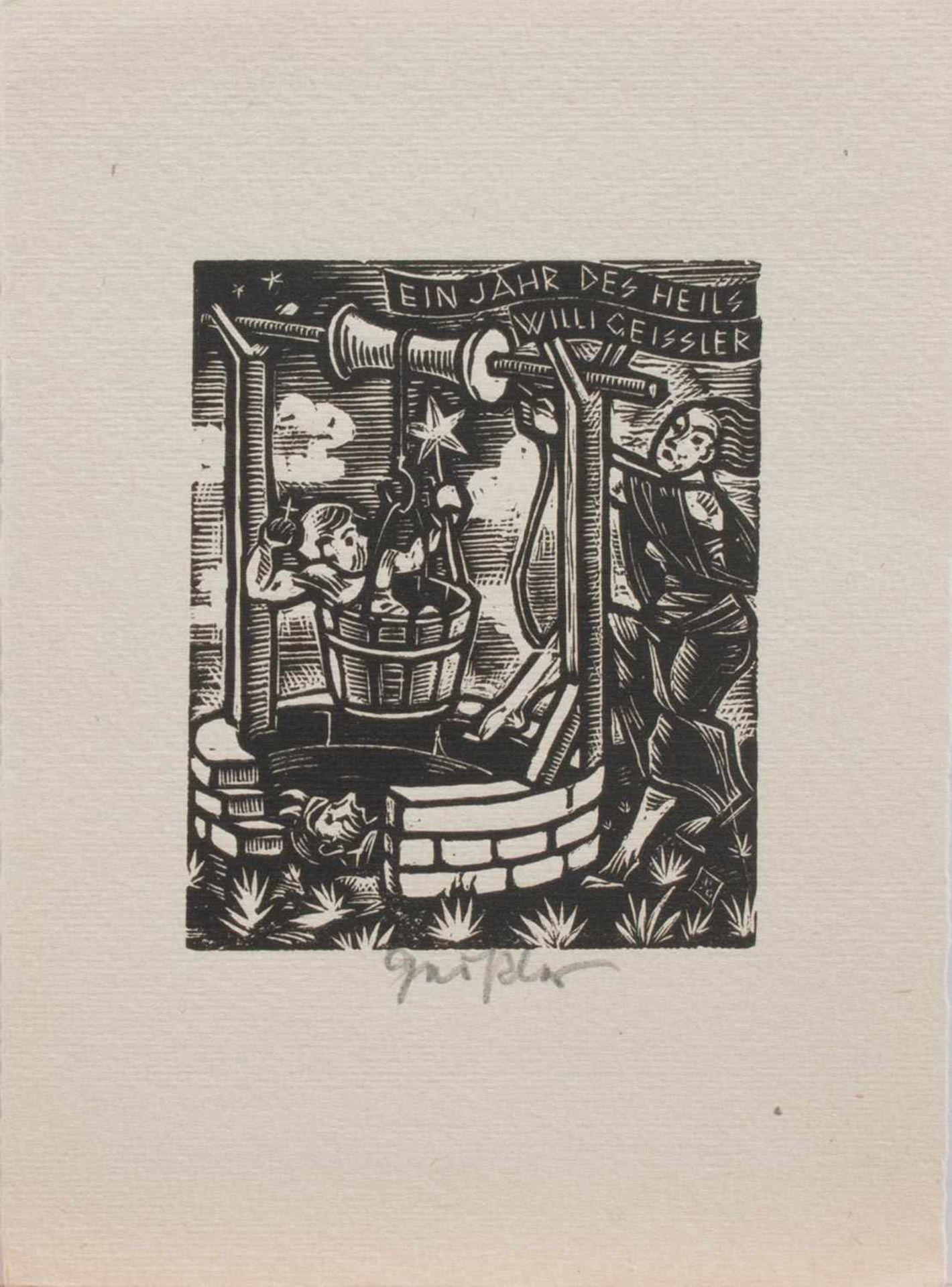 Wilhelm Geißler (Hamm 1895 - 1977 Wuppertal, deutscher Grafiker u. Maler, Studium a. d. HS f. Grafik