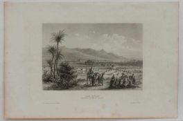 """Stahlstich """"Der Atlas"""" - MaroccoStahlstich um 1850, verlegt im Bibliografischen Institut"""