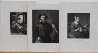 Wilhelm Unger (1837 - 1932, österreichischer Zeichner u. Radierer des 19./ 20. Jh.)6 Radierungen