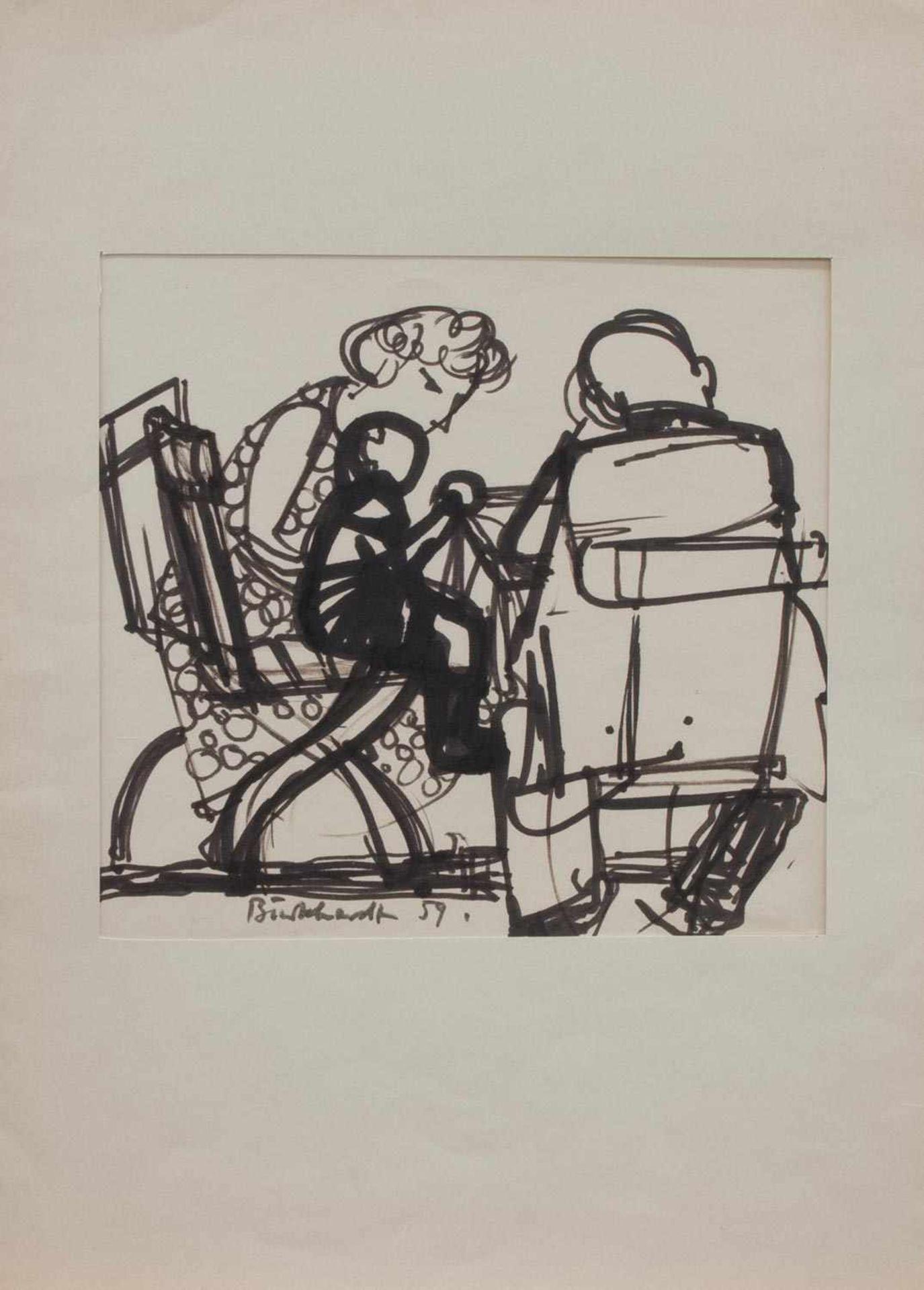 Heinrich Burkhardt (Altenburg 1904 - 1985 Berlin, deutscher Maler u. Grafiker, Std. a.d.
