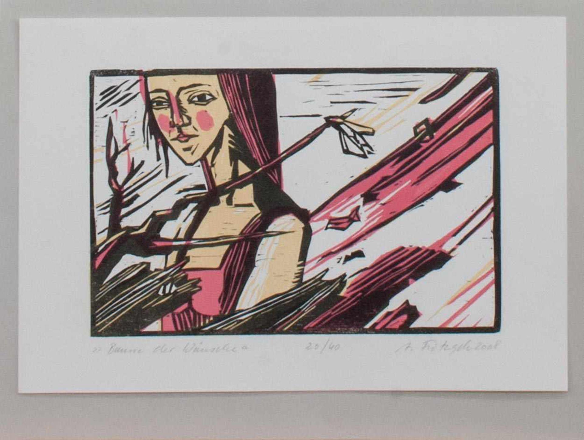 Anette Fritzsch (geb. in Halle/S., Studium an der HS f. Grafik und Buchkunst Leipzig, in Zwickau