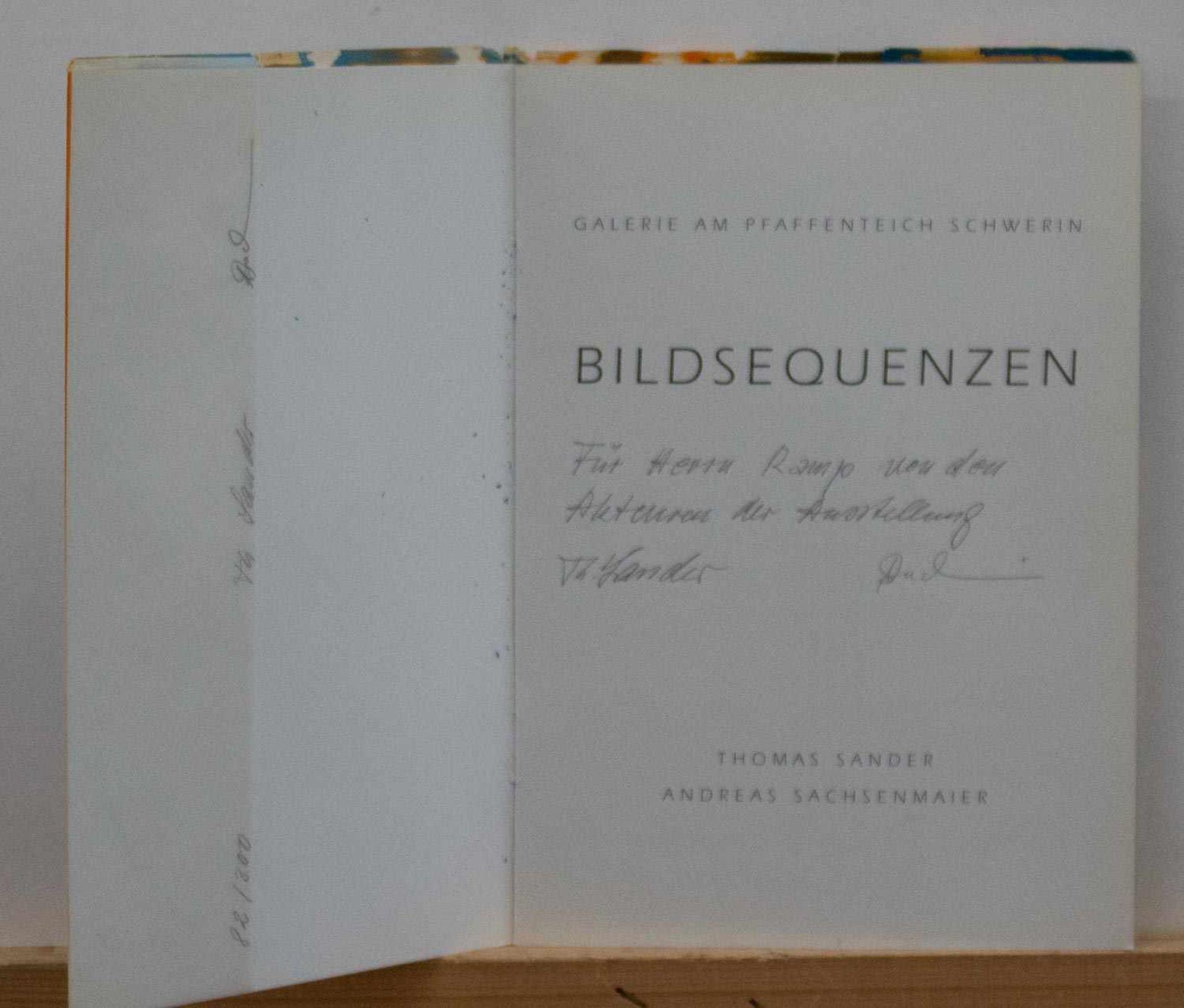"Thomas Sander/ Andreas Sachsenmaier ""Bildsequenzen"", Ausstellungskatalog 1994 zur Ausstellung i.d."